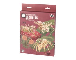 3D Wooden Bugs Puzzles