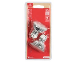 MR16 (GU10) Halogen Reflector Light Bulbs 50 W (2-Pack)