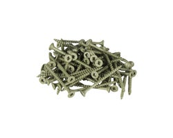 Green Treated Wood Screws 1-1/2 in. #8 F.H. (100-Pack)