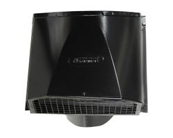 Black Maximum Wall Exhaust Vent , 6 in.