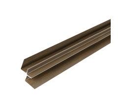 Bellara Steel Siding Inside Corner 10 ft.Deep Walnut