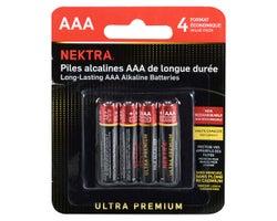 Piles Ultra Premium AAA (Paquet de 4)