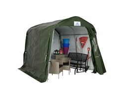 Green Utility Shelter 8 ft. x 10 ft.