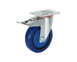 Roulette pivotante/frein en caoutchouc 4 po