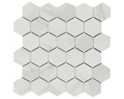 Carrera Hexagon Porcelain Mosaic 11 in. X 12 in.