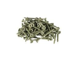 Green Treated Wood Screws 2 in. #8 F.H. (100-Pack)