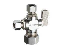 Dual Outlet Valve, 5/8 in. X 3/8 in. X 3/8 in.Comp