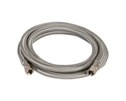 Flexible Stainless Ice Machine Hose 6 ft. (1/4 in. x 1/4 in.)
