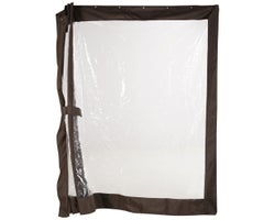 Rideaux clairs pour abri-soleil Sumatra 10 pi x 10 pi