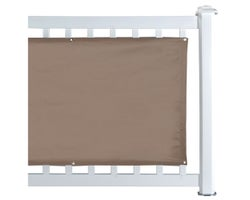 Taupe Balcony Privacy Screen 30 in. x 16 ft.