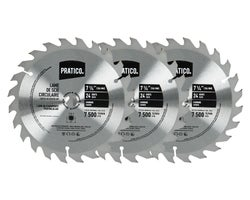 Circular Saw Blades 7-1/4 in., 24-Tooth (3-Pack)