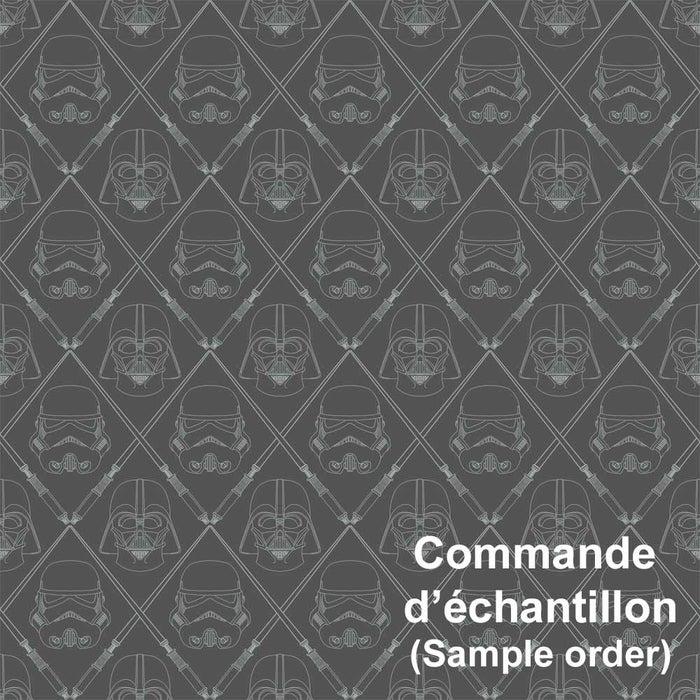 Peel Stick Wallpaper Black Silver Star Wars Dark Side Sample York Canac