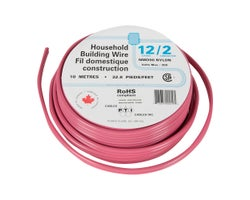 Interior Electrical Wire NMD-90, 12/2 Red 10 m