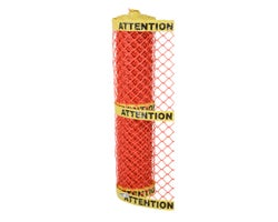 Construction Warning «Attention» Fence 4 ft. x 50 ft.
