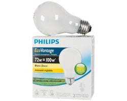 A19 Halogen Light Bulbs 72 W (2-Pack)