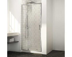 Labrador Shower Door 40 in. Chrome