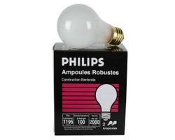 Ampoules incandescentes antichocs 100 W(Paquet de 2)