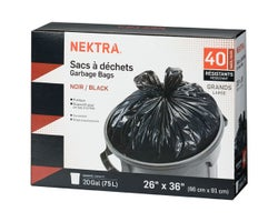 Strong Garbage Bags (40-Pack)