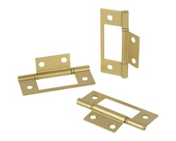 Non-Mortise Hinges, 3 in. (3-Pack)