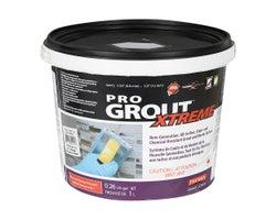 Coulis époxy & Mortier Pro Grout Xtreme 1L Gris perle