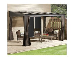 Pompano Wall-Mounted Sun Shelter 10ft.x12ft.