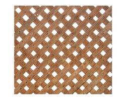 Brown Treated Wood Privacy Plus Lattice 4 ft. x 8 ft.