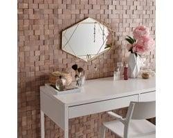 Mosaic Wooden Panelling, Oak White