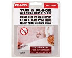 Scellant adhésif pour baignoire/plancher 1 1/4 po x 5,5 pi