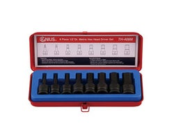 8 Piece 1/2 in. Dr. Metric Hex Head Driver Set