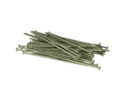 Green Treated Wood Screws 6 in. #10 F.H. (100-Pack)
