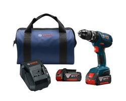 18 V Compact Tough 1/2 in. Hammer Drill Driver Kit, FatPack batteries