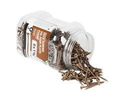 Brown Treated Wood Screws 1-5/8 in. #6 F.H. (500-Pack)
