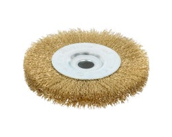Crimped Wire Rotative Flat Brush 6 in.