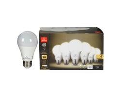 Ampoule DEL A19 Blanc chaud 9 W (Paquet de 6)