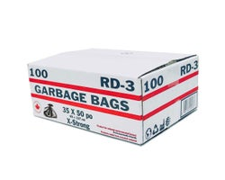 Industrial Extra Strong Trash Bags 35 in. X 50 in. (100-Pack)