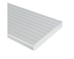 Marche en aluminium blanc 42 po