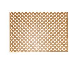 Cedar PVC Privacy Lattice4 ft.x 8 ft. (1 in. squares)
