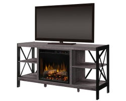Ramona Media Console with , Electric Fireplace , 1500 W, Logs