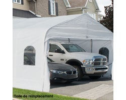 Car Shelter Replacement Cover 18ft.x20ft.