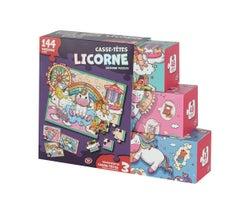 Collection de 3 casse-têtes Licorne (144pièces)