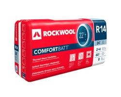 Laine isolante R-14 Rockwool ComfortBatt 3,5 po x 24 po x 60,1 pi²