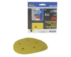 Sanding Discs , 5 in. #180 (4-Pack)
