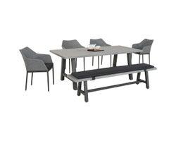 Ensemble de meubles de jardin Miami, 6 morceaux