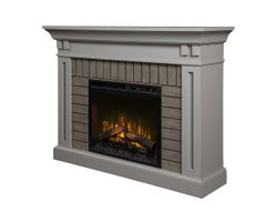 Madison Electric Fireplace , 1500 W Logs, Stone Grey