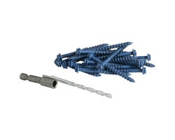 3/16 in. x 2 1/4 in. H.H. Concrete Screws (25-Pack)