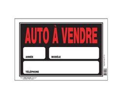 Pancarte Auto à vendre 8 po x 12 po