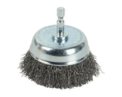 Coarse Wire Rotative Cup Brush 3 in.