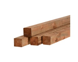 Brown Treated Lumber 4 in. x 4 in. x 12 ft.