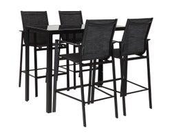 Ensemble de patio table haute 5 morceaux