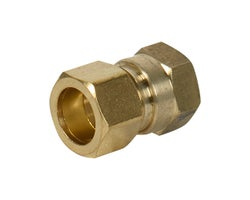 Brass Compression Coupling 5/8 in. x 1/2 in. (FF)